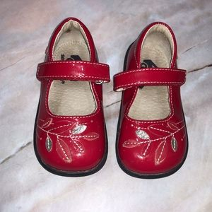See Kai Run Red Patent Leather Mary Jane Shoes